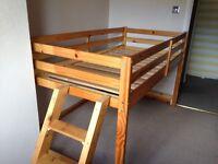 Single high rise sleeper bed