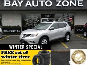 2016 Nissan Rogue SV AWD+SUNROOF+REAR VIEW CAM