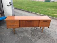 RETRO SIDEBOARD DRAWERS CUPBOARDS ** FREE DELIVERY IS AVAILABLE **