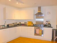 three bed first floor flat in modern development with Balcony and parking