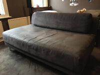 Habitat Scala 3 Seater Suade Sofa - Charcoal