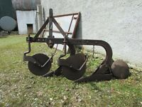 ferguson 2 furrow plough with badge