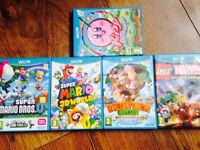 Wii U console with 5 games