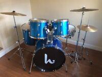 Beginners Drum Kit - Great Christmas Gift - Plus Extra Cymbal, Stool, Pads, Sticks, Drum Key