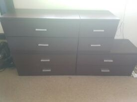 4 x 2 Drawer Chests/Entertainment Units