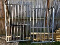 Galvanized steel grey garden gates