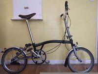 Brompton M3L, Original Brookes Saddle, New Rear Wheel + Hub