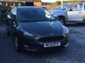 Ford Focus 1.5 TD. With Satnav. 2015 model, full service history, low mileage