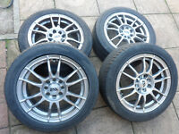 alloys x 4, ford or vauxhall fitment. 195-50x15