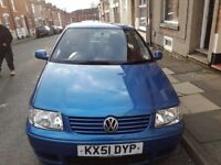 Volkswagen polo match 1.4 51 plate