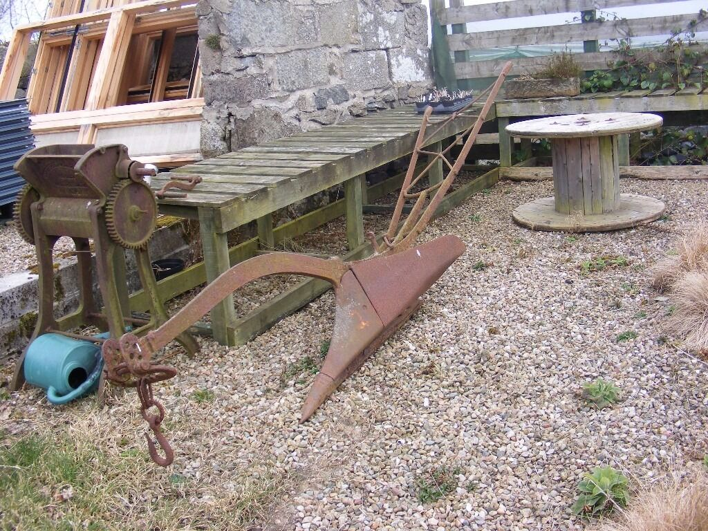 Vintage large horse drawn plough for sale in peterhead for Vintage horseshoes for sale