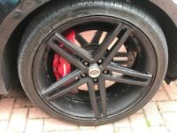 22 inch Axe EX20 Alloy Wheels and Tyres - Satin Black