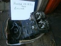 FORE SALE complete honda C/B125cc twin engine for spares or repair main bearing gone