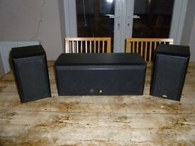 KEF centre channel and satellite speakers