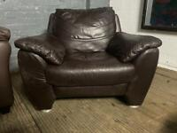 LEATHER SOFA ARMCHAIR WITH FREE 2 SEAT LEATHER SOFA