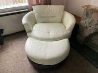 Leather Cuddle Chair - Can Deliver