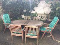 6 seater garden furniture