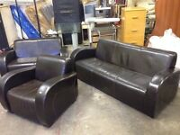 3 Piece Brown Leather Suite
