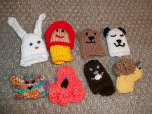 Adorable Knitted Finger Puppets!