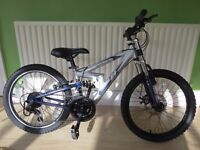 "BOYS 20"" WHEELED MOUNTAIN BIKE.""APLOOL FS20""..FULL SUSPENSION. GOOD CONDITION."