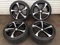 "20"" AUDI A7 ALLOY WHEELS TYRES 5x112 A5 A4"