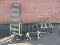 Car Trolley Jack + 2 Ramps & 2 Props, plus others (see description)