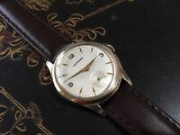 Vintage 9k 9ct solid gold Garrard mens watch