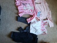 Baby girl clothes selection of 0-3 mths and 9-12 mths