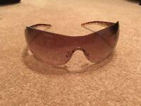 Prada Sunglasses Gold Brown/tortoise with case