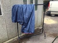 Clothes rail portable, colapsabe with cover