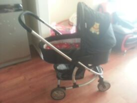 Baby pram and cloths for 0-3 monst