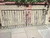 SET OF STEEL DRIVE WAY GATES