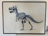 Large Dinosaur 3D CANVAS FRAMED picture