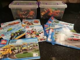 Lego- 2 boxes of small Lego, full instructions included