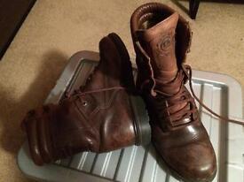Ladies size 8 combat boots