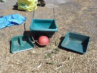 Durable ball wheelbarrow with original scoop set