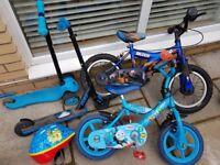 Bike, Scooter & Helmet