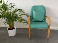 Green Soft Padded Chair For Sale