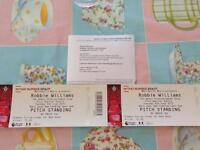 Robbie Williams concert tickets June 6th 2017