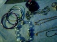 Job lot of womens costume jewelry