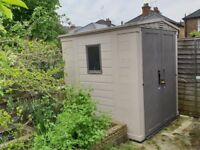 SOLD - Keter Plastic shed - only been outside for a few months amazing condition 185cm x 170cm