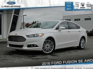 2016 Ford Fusion **SE*AWD*CUIR*TOIT* NAVI*CAMERA*A/C 2 ZONES**