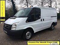 Ford Transit Van 2.2 300-1 Owner Ex BT-FSH 10 Stamps-1YR MOT-90K Miles Only-Parking Sensors WARRANTY
