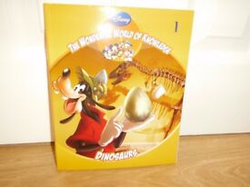 Disney The Wonderful World of Knowledge: Dinosaurs, No.1 Hardcover New Condition