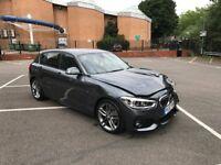 2018 BMW 120D M SPORT F20 LCI 5 DOOR GREY UNRECORDED DAMAGED SALVAGE REPAIRABLE