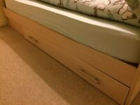 King size bed frame (mattress included if wanted)