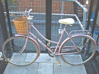 Beautiful Vintage Dutch style, Lightweight 3 speed ladies bike, Sit up and beg, Serviced