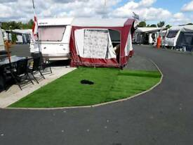 4 berth caravan for sale with arning with bed room
