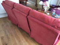 Free - Red Double reclining sofa