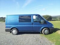 Ford Transit 130bhp TDCI with electric windows on front, privacy glass on middle section...